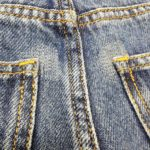 タイトフィットのジーンズに多い、後ポケット淵の破れをリペアしました!