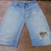 想い出の詰まったジーンズをリメイクしてトートバッグを制作しました。