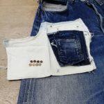 リーバイス501XX復刻 米国バレンシア製 前ポケットスレキ(袋布)の新品交換 リベット両面再利用