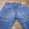 TCBジーンズ 60s テーパード加工&裾上げアタリ出し加工